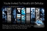 Cronulla Sutherland Sharks 1 NRL personalised invitation