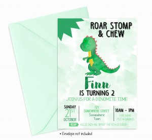 boys dinosaur invitations invites