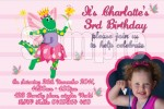 Dorothy the dinosuar personalised photo invitations