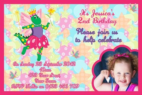 Dorothy the Dinosaur birthday party invite