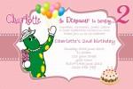 Dorothy the dinosaur birthday invitation