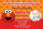 Elmo invitations