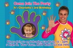 Hi 5 personalised photo birthday party invitations