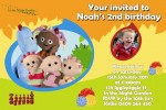 In the night garden personalised photo birthday party invitations