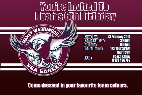 Manly sea eagles NRL invitation