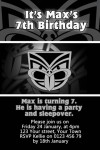 NZ Warriors NRL birthday invitation