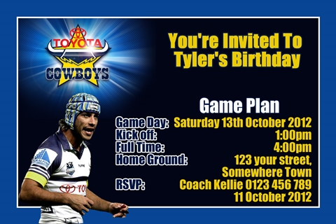 Johnathan Thurston North Queensland Cowboys invitation