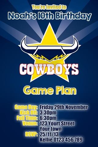 North Queensland Cowboys invitation