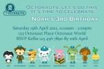 Octonauts personalised photo birthday party invitations