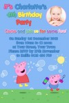 Peppa Pig  and george bubble birthday invitation