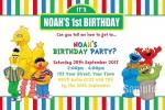 Sesame Street personalised invitations