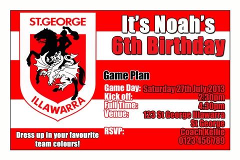 St George Dragons NRL invitation