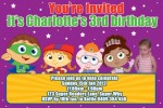 Super why readers personalised photo birthday party invitations