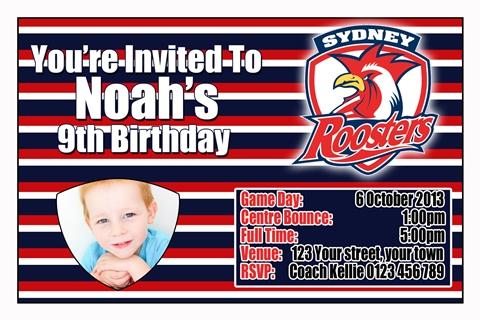 Sydney Rooster invitation