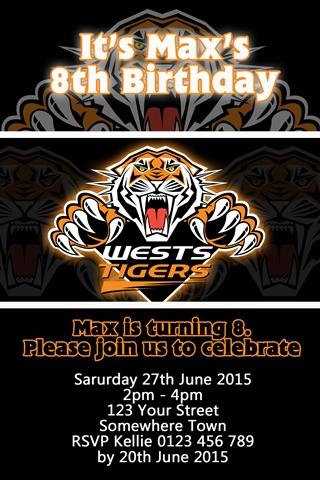 West Tigers NRL invitation