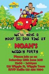 Wiggles personalised photo birthday party invitations