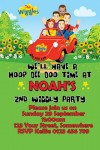 Wiggles new cast party invitation