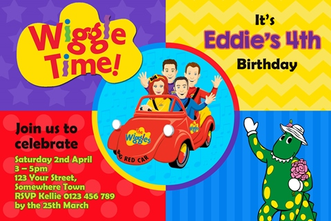 Wiggles dorothy birthday party invitations