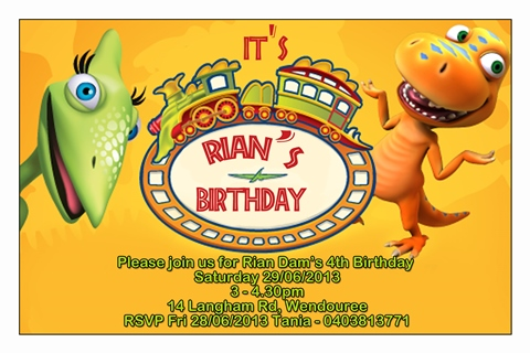 dinosaur train birthday party invitations