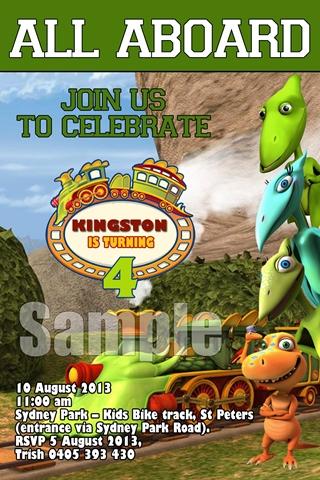 Dinosaur train invite
