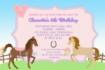 Personalised horse and pony birthday party invitations