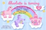 Personalised Unicorn birthday party invitations