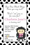 Baa Baa black sheep birthday party invitation