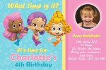 personalised bubble guppies birthday party invitations