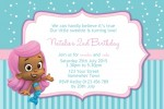 Bubble Guppies invitation