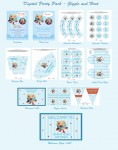 Giggle and hoot digital party pack decorations and favors