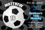 sports soccer birthday party invitation