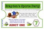 Sports party invitation