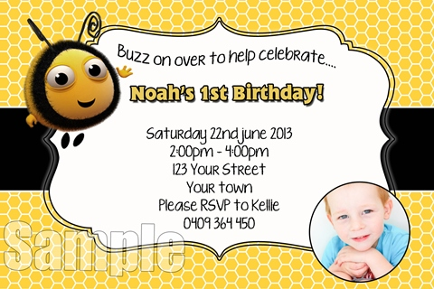 buzz bee the hive  invite invitation