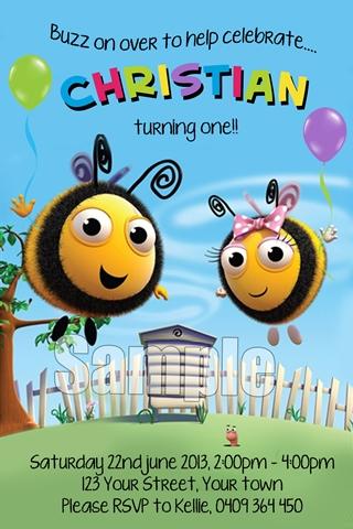Buzz Bee the hive invitation