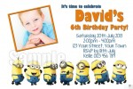 despicable me minions invite