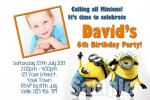 despicable me minions invitation