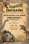 kids Dinosaur birthday party invitation