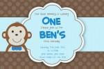 kids monkey invitation