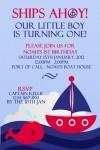 Nautical and sail boat invitation