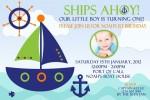 Nautical and boast anchor invitation invite