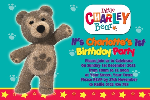 Little Charlie Bear invitation