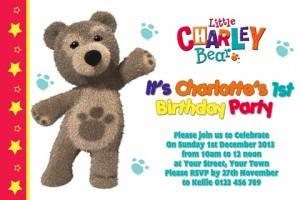 Little Charlie Bear invite