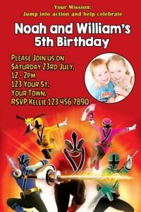 Power Rangers invites