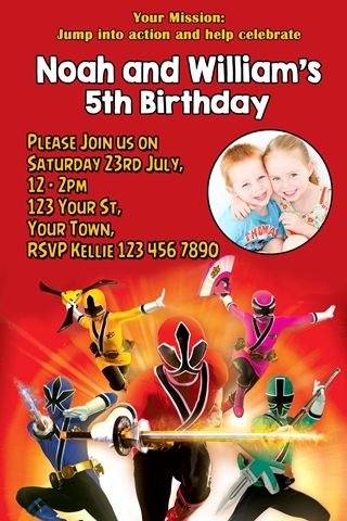 Power Rangers invites