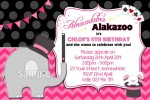 girls Magic party invitation