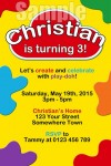 Play doh invitation
