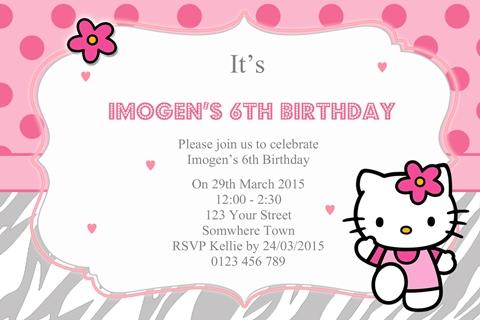 Pink Hello Kitty Invitation