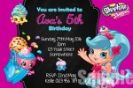 Shopkins birthday party invitation
