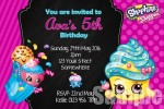 Shopkins birthday party Invite
