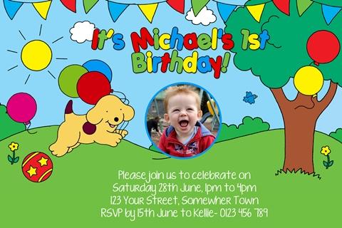 Spot the Dog birthday party invitation